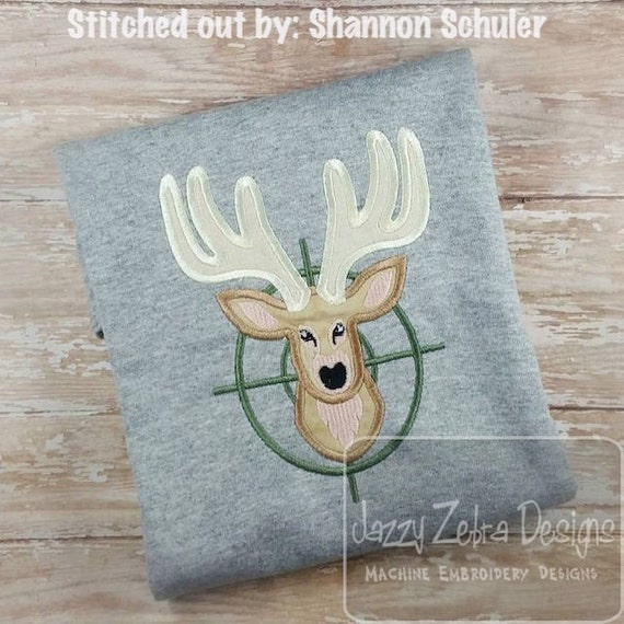 Deer Hunter Applique embroidery Design - deer Applique Design - hunting Applique Design - boy Applique Design - dad Appliqué Design