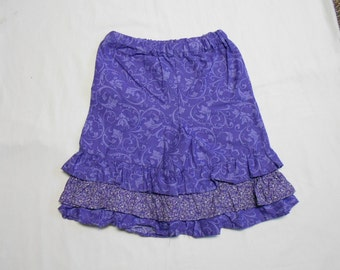 Girls' purple ruffled pants