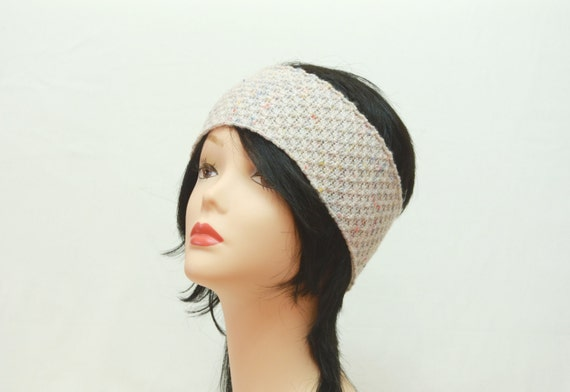 head wrap knit off-white