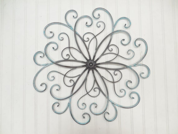 wrought iron wall art you pick colors silver by. Black Bedroom Furniture Sets. Home Design Ideas
