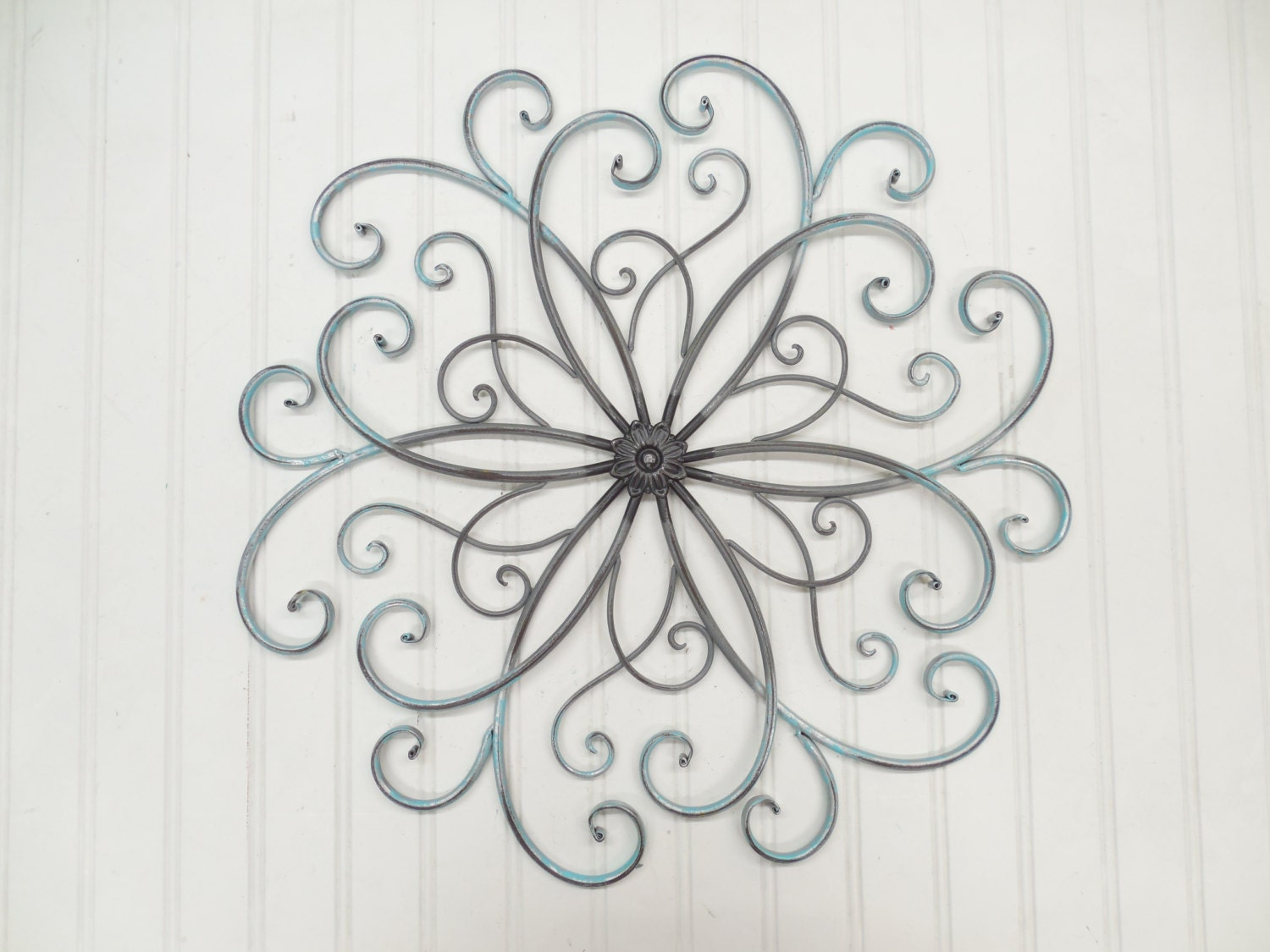 Faux wrought iron wall art you pick by theshabbystore on etsy for Outdoor garden wall decor