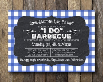 Engagement BBQ Invitation - Printable Invitation - Barbecue Invite - Engagement Shower Invitation - BBQ Shower Invite - Couples BBQ Shower
