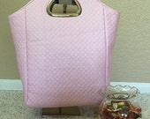 Pink Quilted Tote