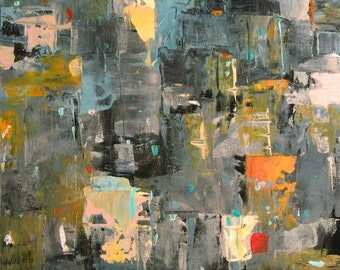Large Cityscape Painting, Large Abstract Painting, NYC Painting, 30 x 40, Loft Painting, Large Wall Art,  Abstract Art, Abstract Cityscape