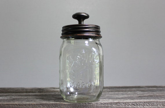 Oil Rubbed Bronze Decorative Glass Storage Jar by Southern Home Supply