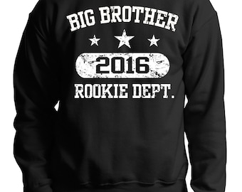 Big Brother Sweatshirt Sweater Gift For Brother Big Brother Rookie Dept