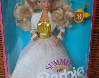 Barbie Doll, 1990 Summit Barbie, Blonde Hair Barbie, Mint in Original Box, Collectible Barbie, Vintage First Summit Barbie Doll