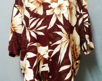 Tori Richard Hawaiian Shirt Mens L Aloha Made In Hawaii