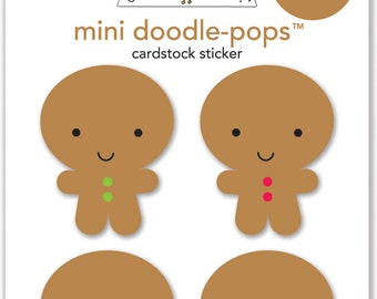 SALE! Jolly Gingerbread Doodle-Pops Stickers from Doodlebug Design