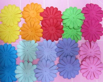 Lotto paper flowers, 20 pieces