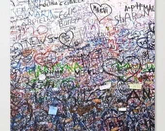 Italy Photography, Graffiti Art, Italy Print, Square Print, Square Art, Graffiti Art Canvas, Verona Love Letters, Teen Art, Girls Wall Art