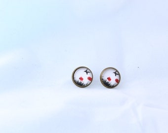 Freedom Studs Earrings 12mm