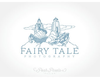 OOAK Logo Design (Premade) Castle logo, Dragon logo, Fairy Tale logo, Hand drawn logo, Business Logo, Boutique logo, Whimsical logo