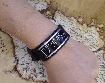 Personalized - Custom  Dragon Shouts Skyrim Elder Scrolls Inspired Leather bracelet wrist / cuff