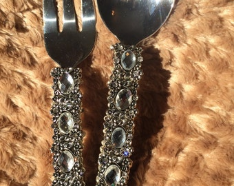 Serving Set Beaded on Front and Back