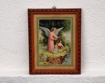Picture frame - image with angel and children