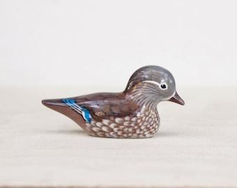 female mandarin duck figurine