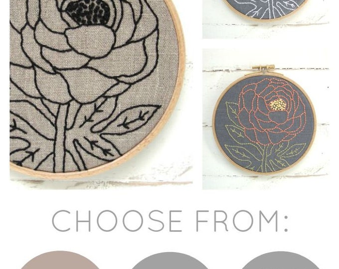 Peony Embroidery Kit (basic)