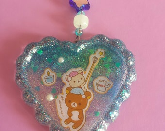 Rilakkuma Catches a Star Glow In the Dark Resin Charm