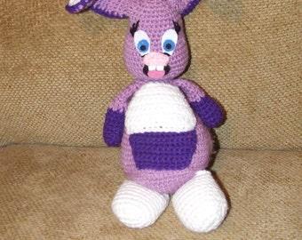 Crocheted purple bunny