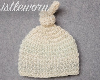 KnotHead Hat in Blue Oatmeal Ombre