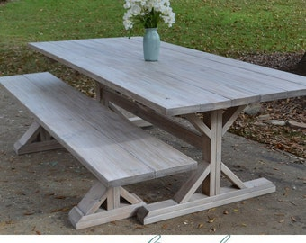 X Style Base Farmhouse Table (Custom Built)