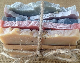 Soap Sample Bundle - 5 Assorted Handmade Soap Samples, All Natural, Vegan