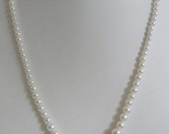 Vintage White Pearl Necklace Choker Vintage Faux Pearl White Necklace Pearl Clasp