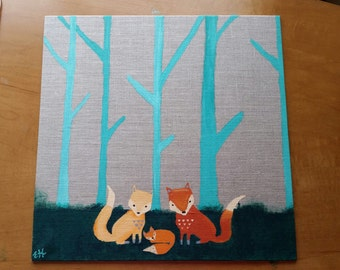Little Fox Nursery Painting
