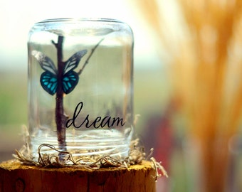 Dream | Inspirational her | College graduation gift for her | Birthday gift | College dorm decorations | Reclaimed her | Going away gift
