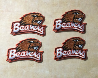 4 Oregon State Beavers embroidered Iron on patches