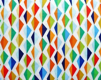 Origami Oasis by Michael Miller DC6400 Mountain & Valley, Diamond Fabric, Kite Fabric, Colorful Cotton Fabric, Nursery Decor Fabric