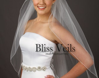Custom Veil, Fingertip Length Veil, 1 Layer Veil