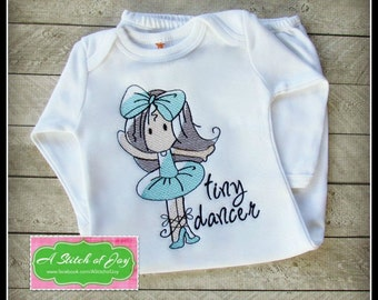 Tiny Dancer Ballerina Bodysuit, Layette Gown or Shirt