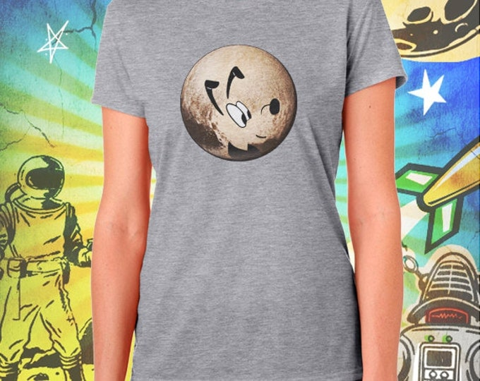 Planet Pluto Gray Women's T-Shirt