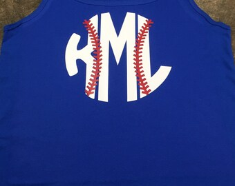 Monogram Baseball Tank Top