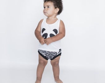 Baby // Toddler Monochromatic Aztec Bloomers,  Diaper Cover