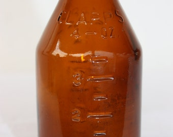 Clapps Brown Vintage Bottle -  Medicinal - Collectible Bottle