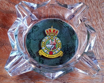 Rare USAFE 32nd Tactical Fighter Squadron Ashtray - Made in France - Designed by Walt Disney