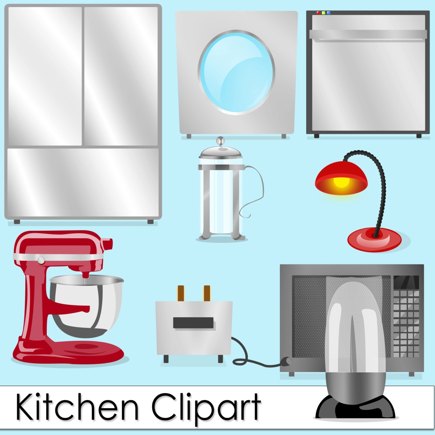 Commercial Use Instant Download Home Kitchen Appliances