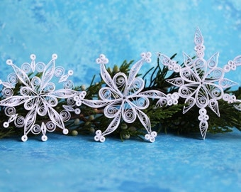 ALTA snowflakes - Paper quilled ornament - Christmas decoration - Handmade gift