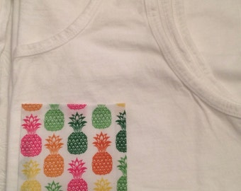 Pineapple Pocket Tank Top or T-Shirt