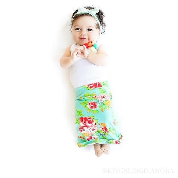 Baby maxi skirt newborn skirt baby skirt modern baby skirt vintage