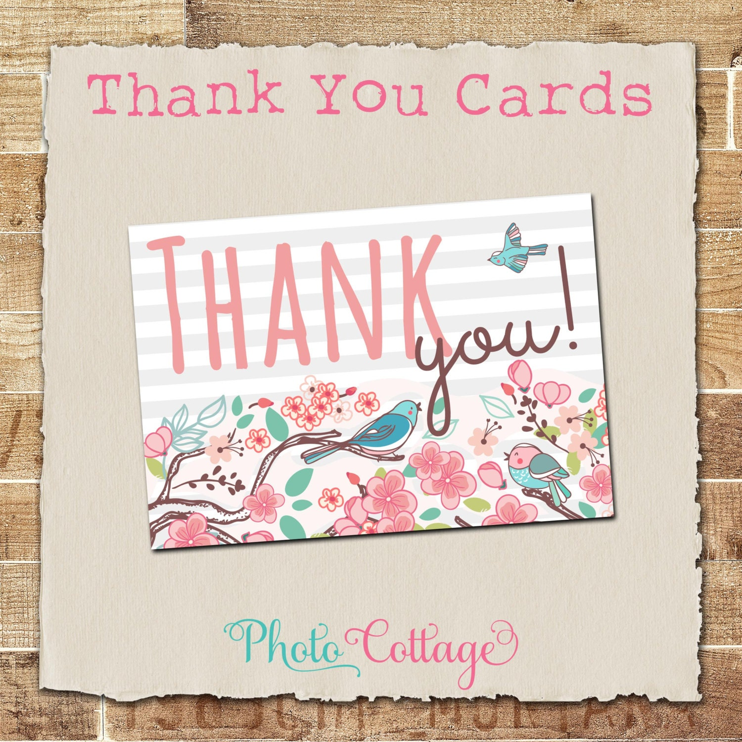 Baby Shower Thank You Cards Mint Shower Thank You Card