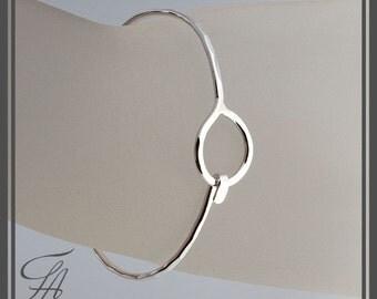 Sterling Cuff Bracelet,Karma Bracelet,Eternity Bracelet,Silver Bangle Bracelet,Eternity Circle,Cuff Bracelet,Sterling Silver,Handmade Cuff