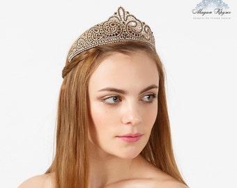 "Bobbin Lace tiara ""Charm"" russian bobin lace"