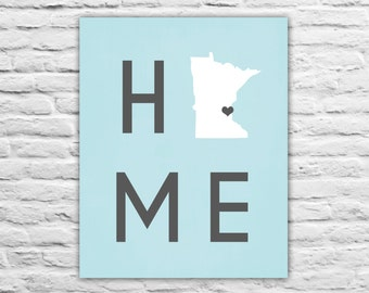 Home Decor - Minnesota Map - Any Country Map Print Military Family, Friend, Personalized State Map, Newly Wed, Wedding Gift, Home Decor Art