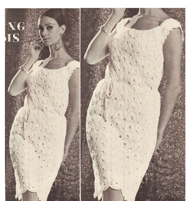 Crochet Wedding Dress Pattern : Crochet DRESS Pattern Vintage 70s Crochet Wedding by Liloumariposa