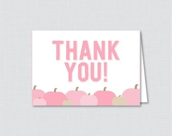 Printable Pink Little Pumpkin Thank You Card - Printable Instant Download - Pumpkin Baby Shower Thank You Card - Fall Thank You - 0035-P