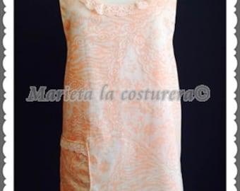 """Pinafore dress /cross back  """"Romantico""""      Pichy/delantal """"Romántico"""" exclusivo único en stock"""